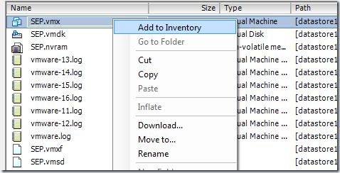 Přidání serveru do Inventory